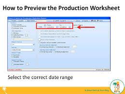 production worksheets ppt download