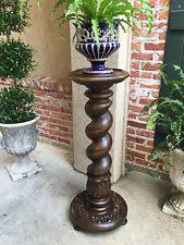 Plant Pedestal Oak Plant Stand Ebay