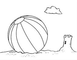 awesome beach ball coloring printable pictures printable