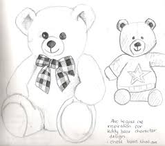 how to draw a valentines bear valentine bear step by step clip