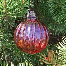 ornaments made in usa cranberry glass