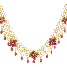 necklace stone setting images Andaaz jewelers precious stone necklace sets png