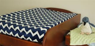Changing Table Cover Royal Blue White Chevron Stripes Baby Change Table Cover Baby