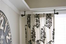 ceiling mounted curtain rods for modern brilliant concept