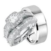 walmart wedding rings for his and hers wedding ring set matching wedding bands for him and