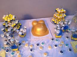 minion baby shower gold belly baby shower cake with minis and push pops