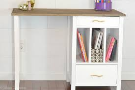 Free Desk Plans Diy Desk Hutch With Free Plans From Ana White I Am A Homemaker
