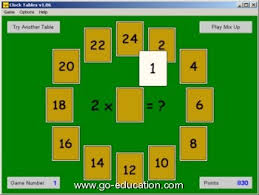 Multiplication Table Games by Times Tables Game Clock Tables