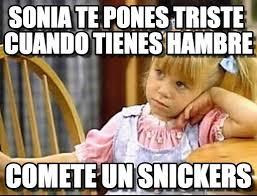 Sonia Meme - sonia te pones triste cuando tienes hambre lyin meme on memegen