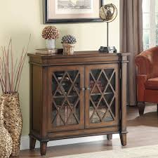 Accent Cabinets Cabinets Traditional Wooden Accent Cabinet With 2 Lattice Overlay