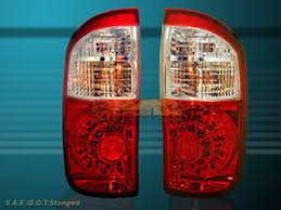2004 tundra tail light 2004 2005 2006 toyota tundra double cab red clear led tail lights
