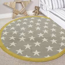 grey u0026 ochre multi stars kids nursery bedroom rug milan c120