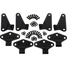 wrangler jeep 4 door black kentrol 50581 wrangler jk body side door hinge set black 2007 2018