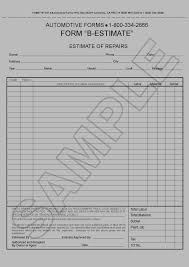 Free Estimates Forms by Shop Forms