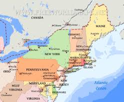 Map Of Maine Usa by Map Of Northeast States In Usa Map Of Usa