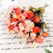 Peony Arrangement Aliexpress Com Buy Artificial Red Rose Spring Flowers 18 Heads