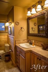 Cabin Bathroom Vanity by Cabin Makeover Before U0026 After Mbi Contractors Inc