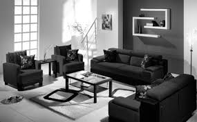 Black Leather Sofa Living Room Design Sweet Black Living Room With Mesmerizing Effect Of The Opposite