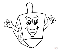 dreidel coloring page free printable hanukkah coloring pages for