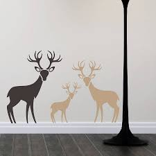 woodland deer family wall stickers by snuggledust studios woodland deer family wall stickers