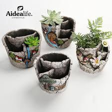 pocket gardens outdoor planters clay potconcrete molds small
