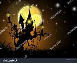 free halloween background eps halloween full moon night background haunted stock vector