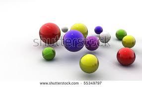 bingo lottery balls numbers blurred background stock illustration