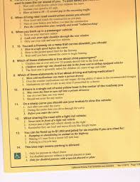 dmv manual book california dmv driving written test questions u0026 answers