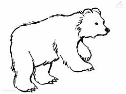 94 standing bear coloring page polar bear printable