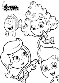 bubble guppies springtime coloring page bubble guppies 20363