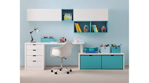 bureau enfant avec meuble de rangement et niche déco asoral so nuit