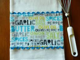 kitchen towel designs flour sack dish towel designer kitchen towel garlic butter