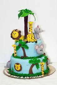 baby blue safari baby shower theme cake baby shower idea