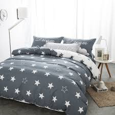 Cotton Queen Duvet Cover Aliexpress Com Buy Bedding Sets Black And White Star Print 100