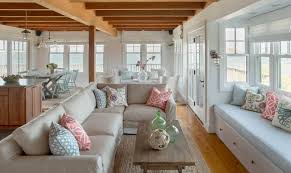 Marthas Vineyard Interior Design Cottage Beach Style Family - Cottage style family room