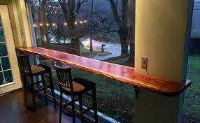 Live Edge Bar Table Bar Tops Figured Black Walnut Lumber Live Edge Furniture