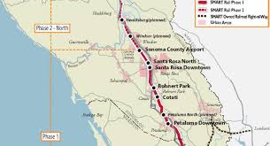 Map Of Sonoma County Ready For The Rails These Homes Are Close To Planned Smart Train