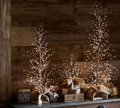 lit white berry trees potterybarn possible table centerpiece