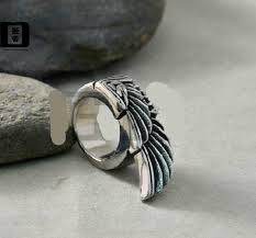 cool mens rings cool wing ring cheap stainless steel mens rings buytra