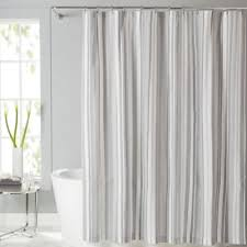 Vertical Striped Shower Curtain Grey And White Striped Shower Curtain Home Design Plan