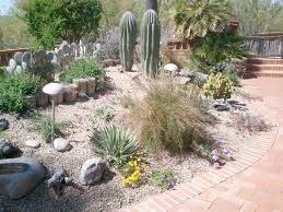 landscaping mulch bed ideas front yard patio designs desert