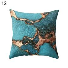 geometric marble texture throw pillow case cushion cover sofa home