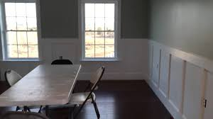 Wainscoting In Dining Room Floor Installed Upper Cabinets In Wainscoting Installed In The