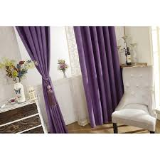 Purple Bedroom Curtains Purple Color Solid Chenille Bedroom Curtains