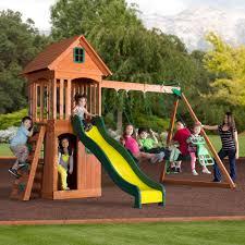 backyard discovery springwood wooden swing set box 1 walmart com