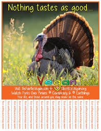 thanksgiving posters tear off posters absolute vegan