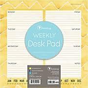 Weekly Desk Pad Desk Pad Calendars Staples