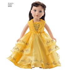 18 Doll Halloween Costumes Simplicity Pattern Ea840501 Child 18 Doll Disney Live