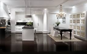 modern classic decor interior kitchen design with black modern