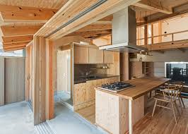 plywood interiors provide compact japanese house storage cozy